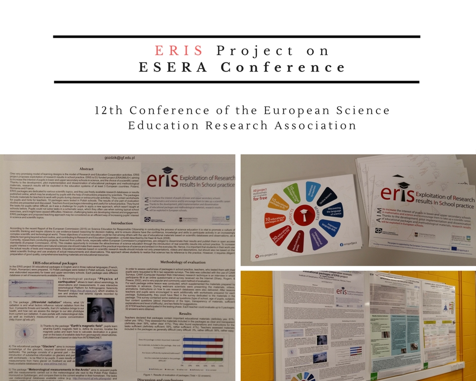 12th Conference of the European Science Education Research AssociationESERA